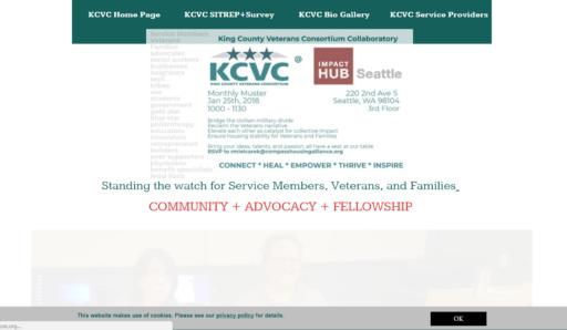 King County Veterans Consortium old website